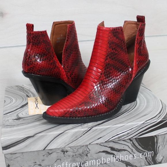 2a03b3b3a Free People Shoes - Jeffrey Campbell x FP Red Matterhorn Western Boots
